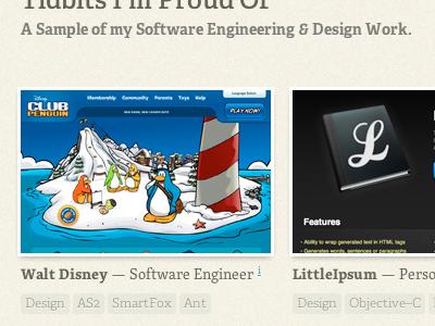 Portfolio Snip portfolio web design