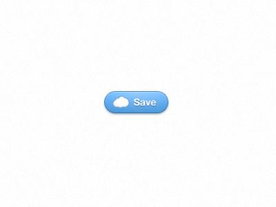 Save Button button cloud blue