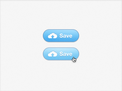 Cloud Button Redux button cloud blue