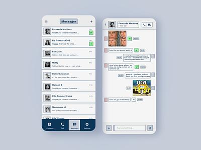 Daily UI 13 - Messaging challenge adobe xd user interface design minimal ux uidesign app daily ui 13 messaging dailyuichallenge dailyui ui