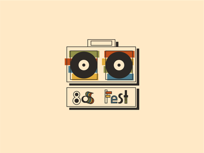 80s Music Festival festival playoffs branding challenge weeklywarmup graphic design design minimal music logo