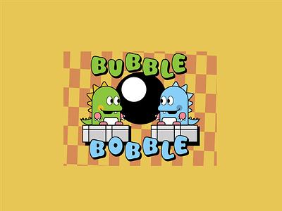 Bubble Bobble - Weekly Warmup playoffs arcade logo illustration bubble bobble graphic design game bubblebobble weeklywarmup challenge design