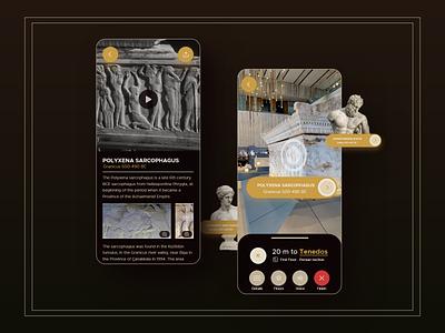 Troia Museum ios uidesign augmentedreality ar roman greek museum ux app ui challenge design