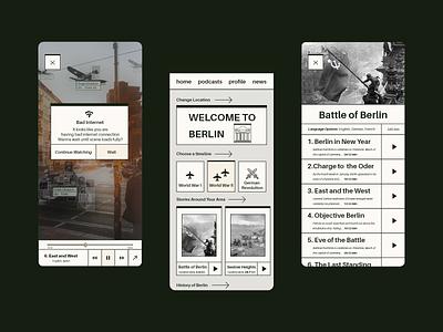 Timeist - History AR App minimalistic ux storytelling augmented reality ar history ios ui app minimal challenge uidesign design