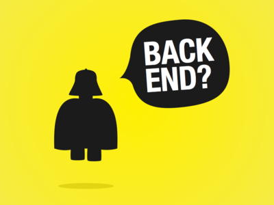 """""""I am your father"""" star wars yellow backend developer vector"""