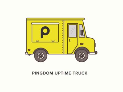 Pingdom truck food truck flat van yellow pingdom