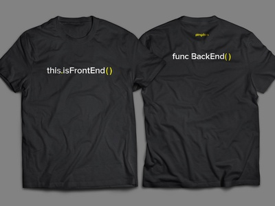 Frontend – Backend shirt pingdom saas coding backend frontend black t-shirt