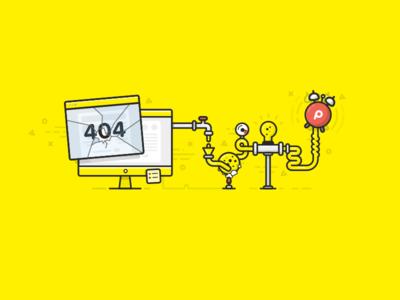 How Pingdom works flat 404 website monitoring uptime alarm pingdom yellow chemistry
