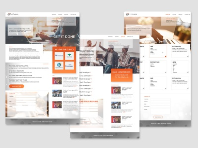 Web-site for IT Company mockups site design ui design ui ux uidesign warmcolors orange itcompany webdesign website