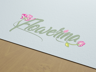 New logo for Flowerina Baku brandidentity logoawesome graphicroozane bramding dribbble vector branding colorful logobrand design-passion leanlogodesign typography illustration graphicdesigner behance graphic design logoidea illustrator logo