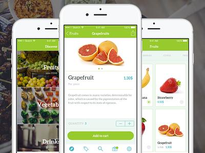Healthy shopping app designlab app ecommerce shopping ux ui iphone