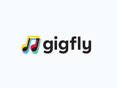Gigfly.com Logo branding app design brand logo