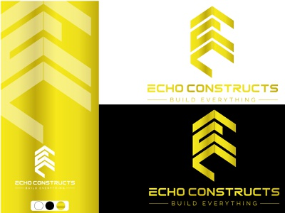 ECHO CONSTRUCTS Logo Design minimal graphic design brand identity branding design logo design vector flat icon logo