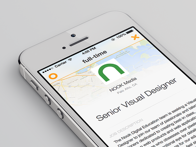 Job Details with Map iOS7 Style