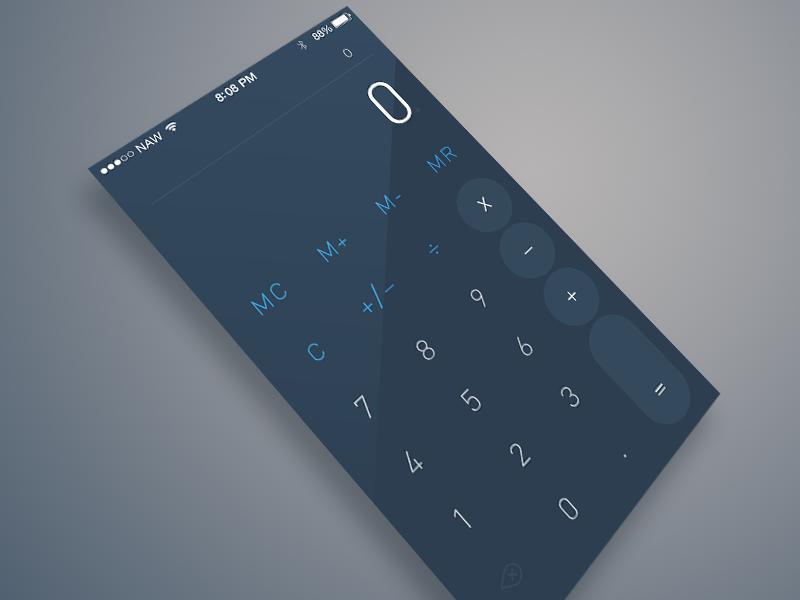 Flat Calculator flat ui sketch app calculator trendy nerd