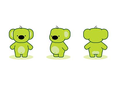 Kiwi the Green Koala 2015 illustration simple clean cartoon animals furry koala