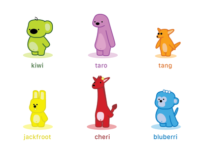 Characters 2015 kiwi illustration childerns book vector illustrator