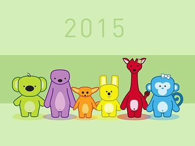 Happy 2015 vector illustration childrens book illustrator happy new year