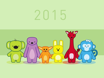 Happy 2015 vector illustration childrens book illustrator happy new year