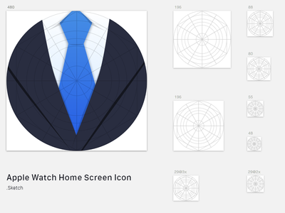 Apple Watch Home Screen Icon Sketch Template sketch apple watch template icons home screen