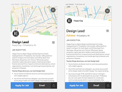 Full-time App Job Detail View sketch job detail full-time app layout