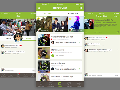 Trendy Chat sketch chat news social