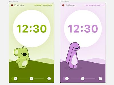 Kiwi Lights 2.0 childrens book animation cartoon redesign kiwi flashlight layout sketch app
