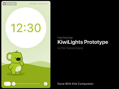 KiwiLights 2.0 Prototype sketch flashlight kite compositor prototype