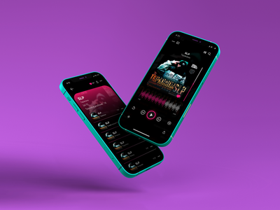 Audio Player flat illustrator web logo ui ux vector graphic design app design music