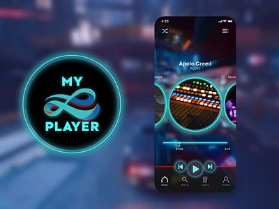 My Music Player graphic design design icon illustration minimal app design logo ux ui music player music app cyberpunk cyber