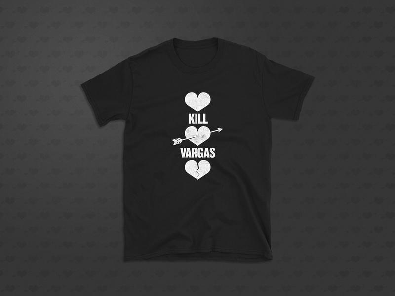 Kill Vargas Tee broken heart heart punk band merch t-shirt