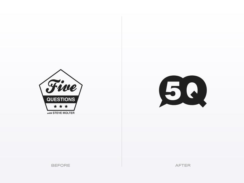5Q logotype typogaphy podcast branding logo