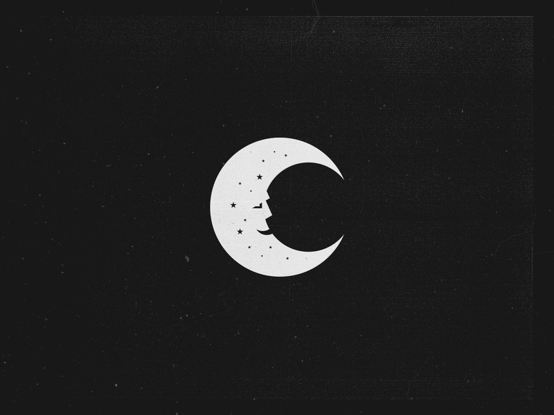 Man in the Moon face illustraion man in the moon space moon