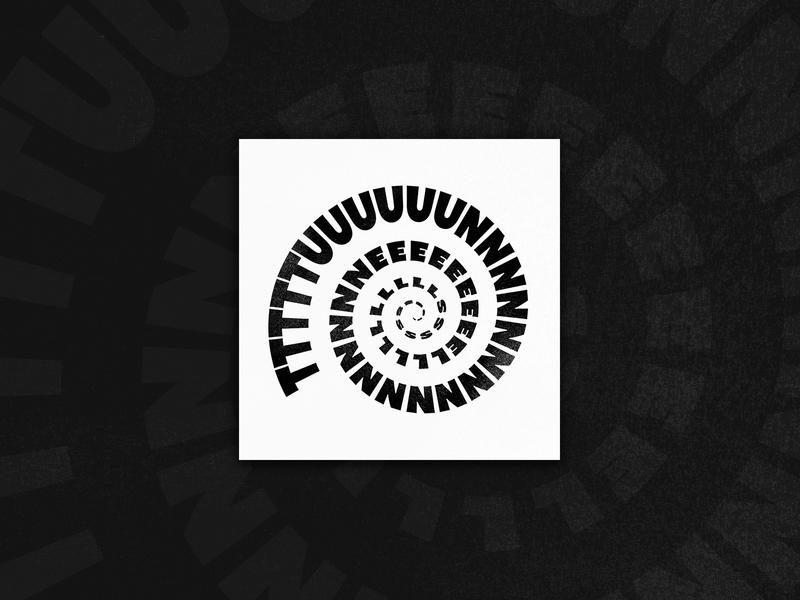 Tunnels typography music album cover album art