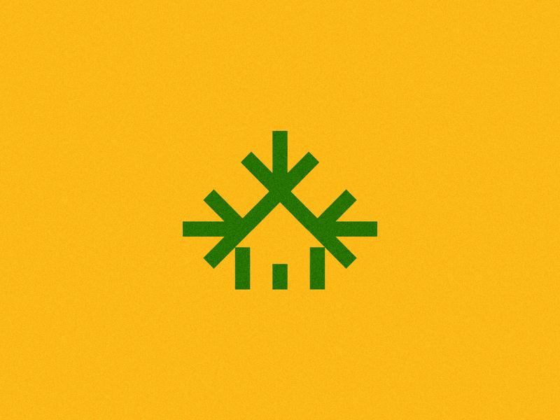 Treehouse geometic tree treehouse symbol icon logo