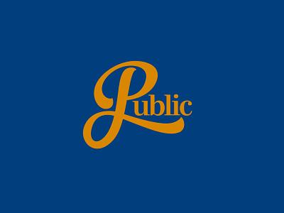 Public Logo Concept 1 restaurant logotype typography logo