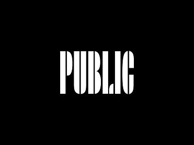 Public Logo Concept 2 restaurant logotype typography logo