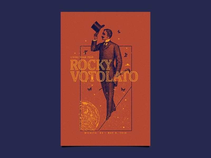 Rocky Votolato Poster figure space scifi illustration poster music gig poster