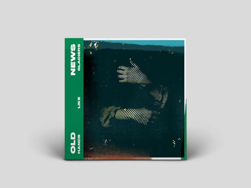 Hands Like Glaciers Outtake1 rock and roll album cover design album cover album art