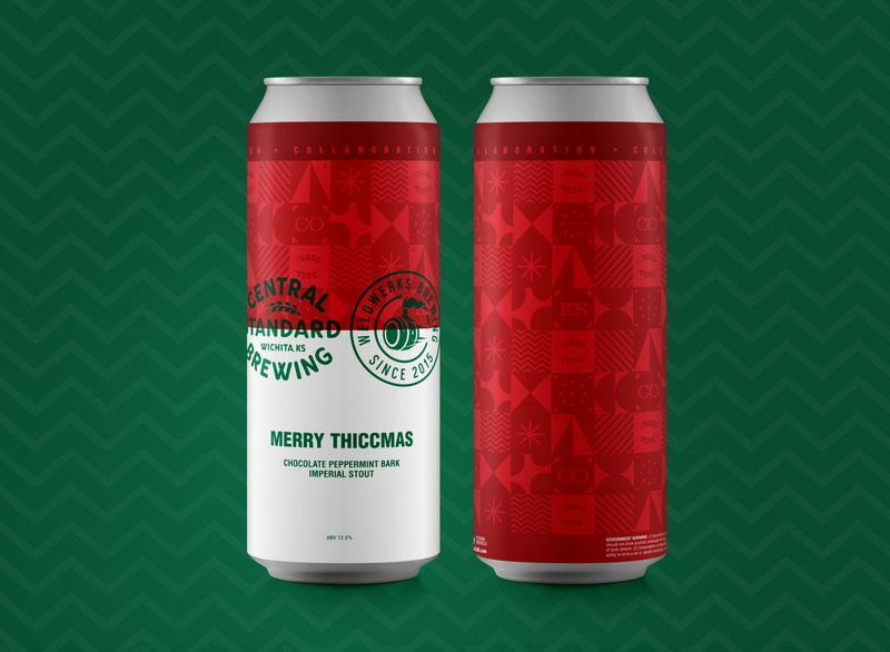 Merry Thiccmas winter holidays christmas beer label beer can beer branding beer