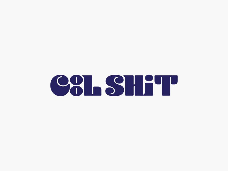 Cool Sh*t logotype retro type typography logo