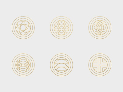 Guilloche Icons abstract pattern branding design icons guilloche