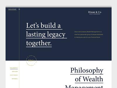 D&Co Website typography web design website business wealth management