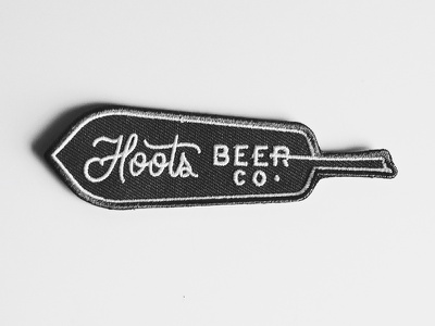 Hoots Patch north carolina design script typography feather patch beer hoots