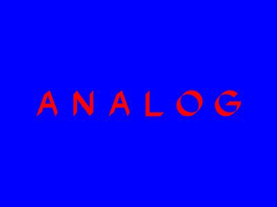 Analog analog angle typography