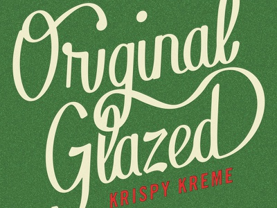 Original Glazzzed design graphic donut doughnuts krispy kreme lettering script