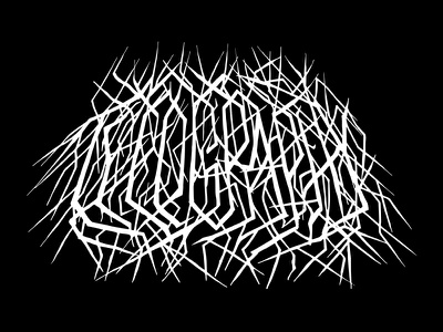 Typography logo band lettering typography metal death
