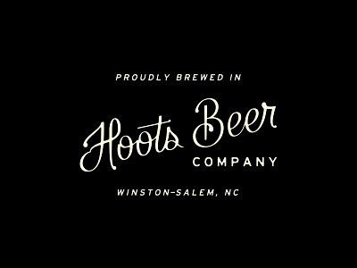 Hoots Script ugly lettering script company beer hoots