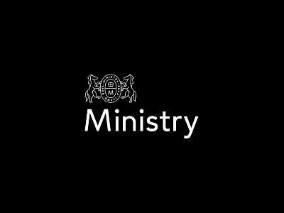 Ministry Logo oil beard barbershop grooming design branding logo