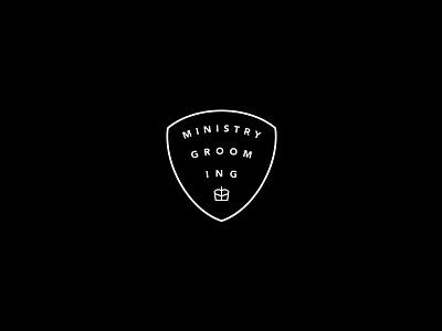 Ministry Secondary Mark oil beard barbershop grooming design branding logo
